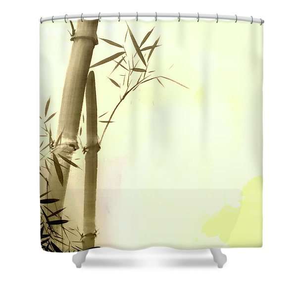 The Bamboo Branch Shower Curtain