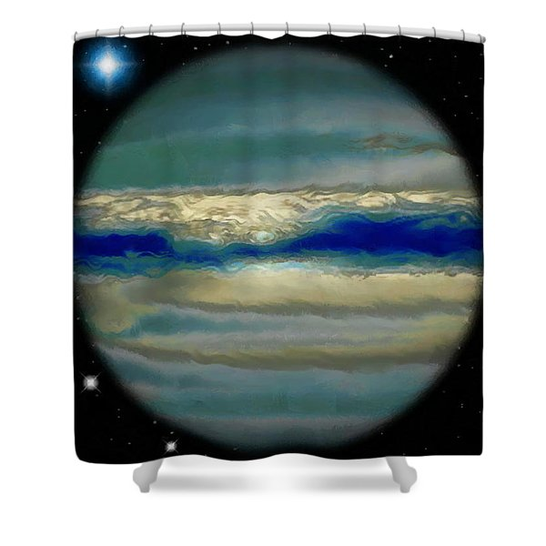 The Bands Of Jupiter Shower Curtain