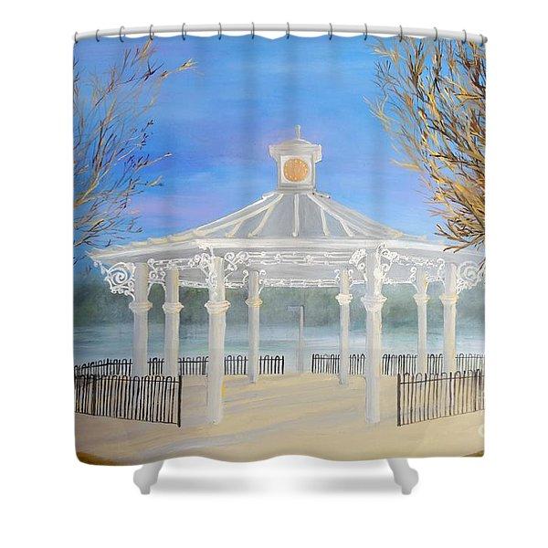 The Bandstand Basingstoke War Memorial Park Shower Curtain