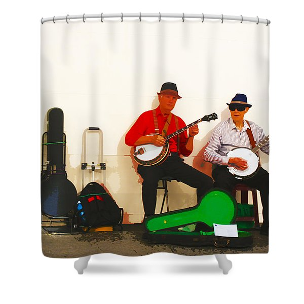 The Banjo Dudes Shower Curtain