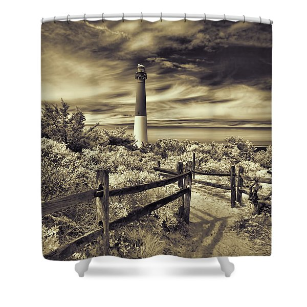 The Barnegat Lighthouse New Jersey Shower Curtain