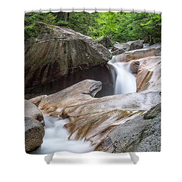 The Basin Down River Shower Curtain