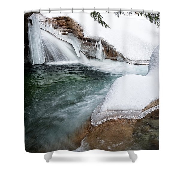 The Basin Side View Nh Shower Curtain
