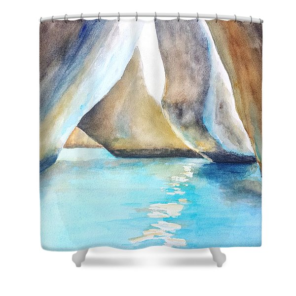 The Baths Water Cave Path Shower Curtain