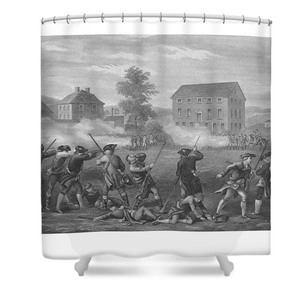 The Battle Of Lexington Shower Curtain