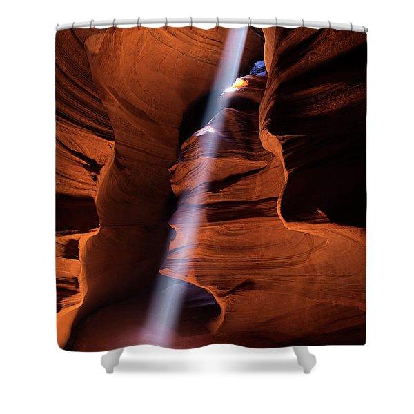 The Beam Of Light Shower Curtain