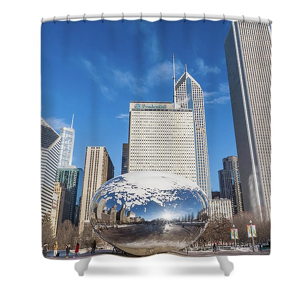 The Bean And The City Shower Curtain