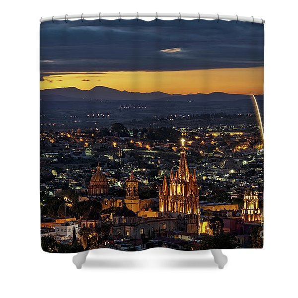 The Beautiful Spanish Colonial City Of San Miguel De Allende, Mexico Shower Curtain