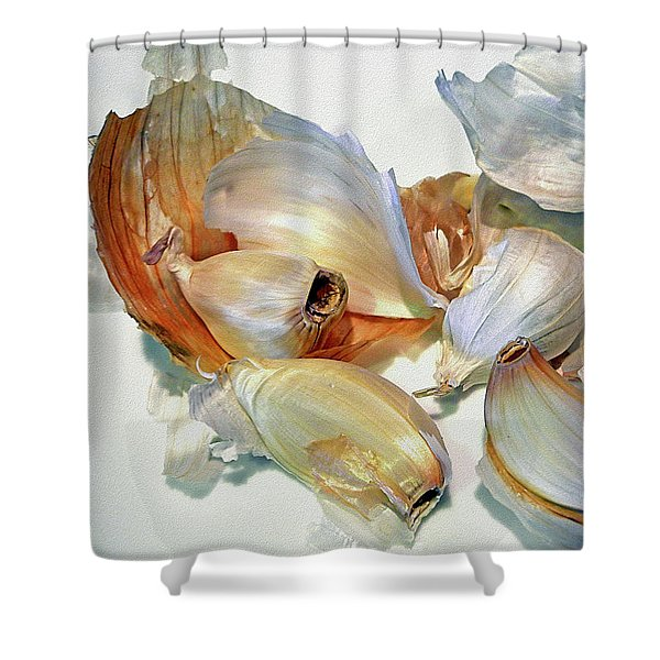 The Beauty Of Garlic Shower Curtain