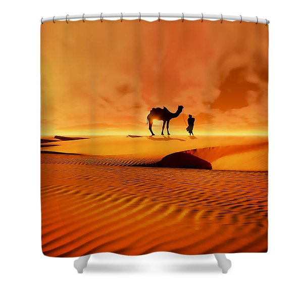 The Bedouin Shower Curtain