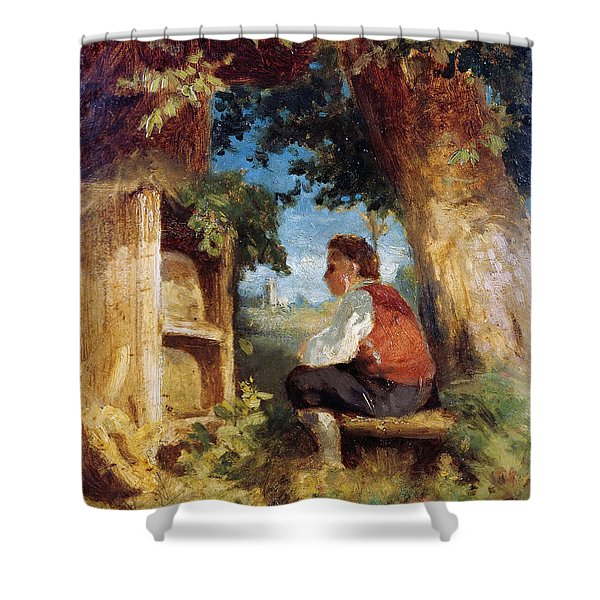 The Bee Friend Shower Curtain
