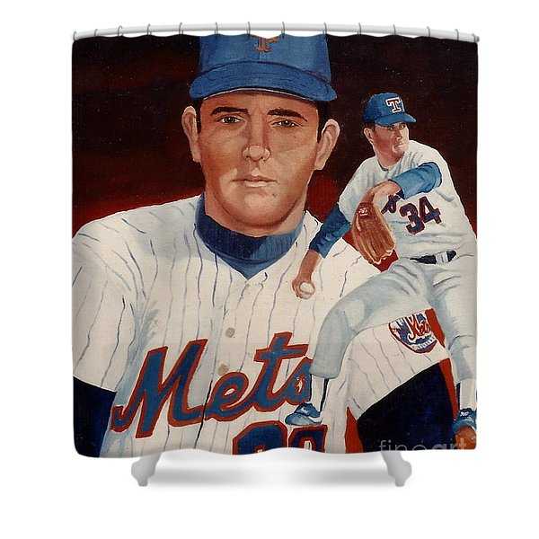 From The Mets To The Rangers Shower Curtain
