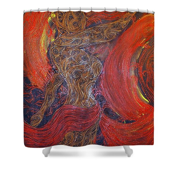 The Belly Dancer Shower Curtain