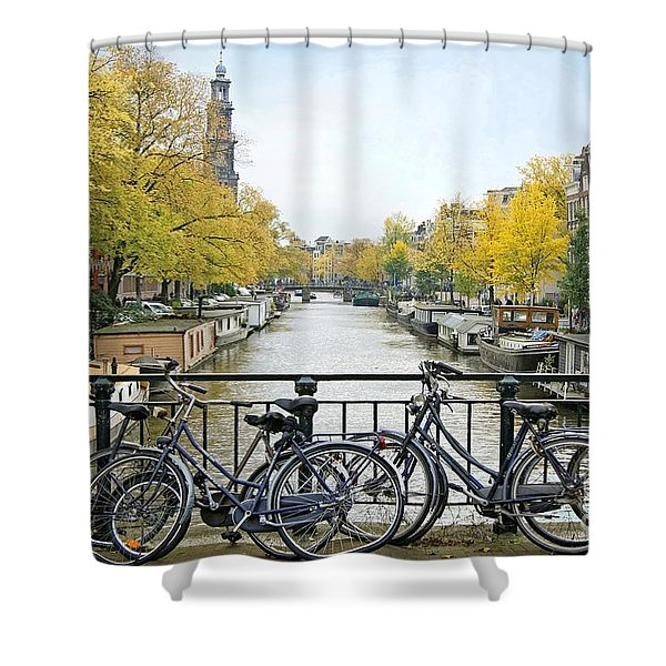 The Bicycle City Of Amsterdam Shower Curtain