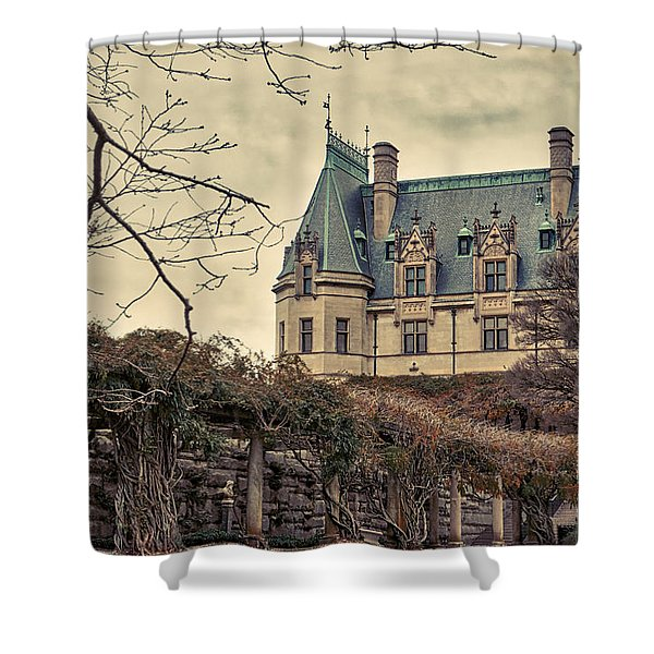 The Biltmore Mansion In The Fall Shower Curtain