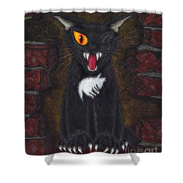 The Black Cat Edgar Allan Poe Shower Curtain