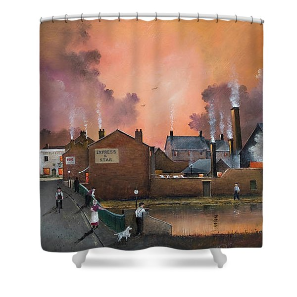 The Black Country Village Shower Curtain