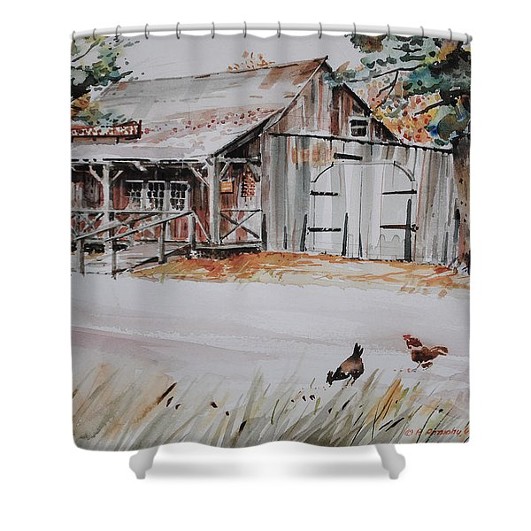 The Blacksmith Shoppe Shower Curtain