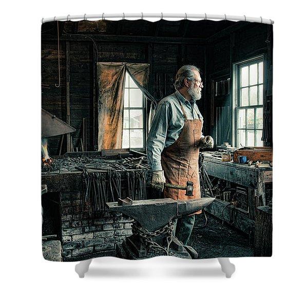 The Blacksmith - Smith Shower Curtain