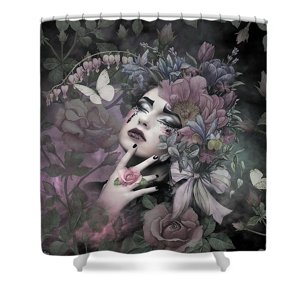 The Blossoming Of Love's Flower Shower Curtain