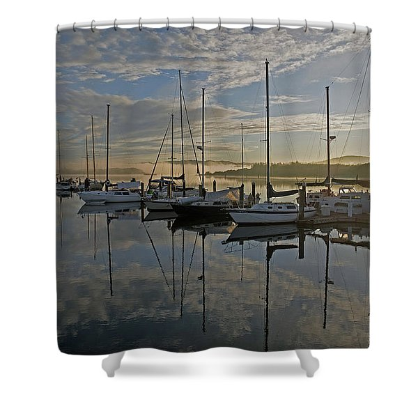 The Blue And Beyond Shower Curtain