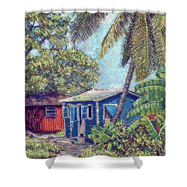 The Blue Cottage Shower Curtain