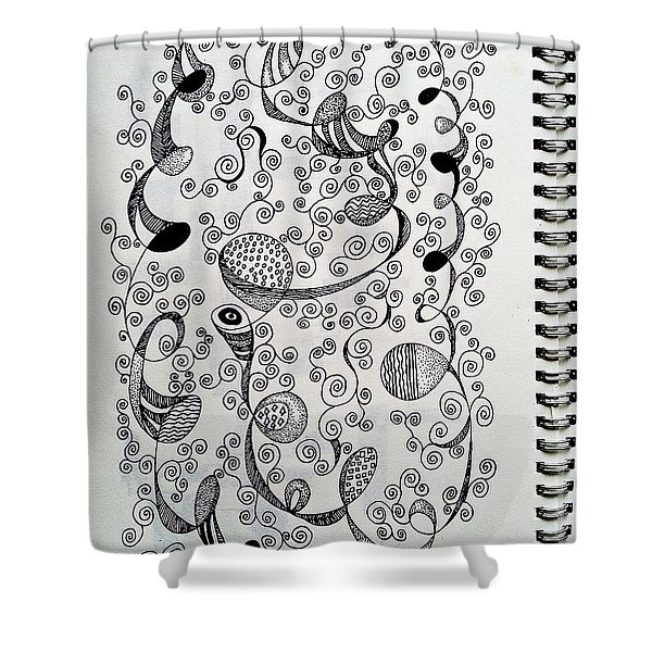 Chopin Nocturne No. 1 In B Flat Minor - Larghetto Shower Curtain