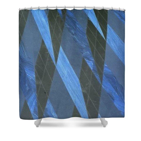 The Blue Dimension Shower Curtain