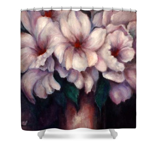The Blue Flowers Shower Curtain