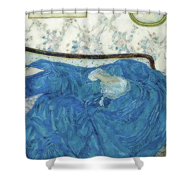 The Blue Gown, 1917  Shower Curtain