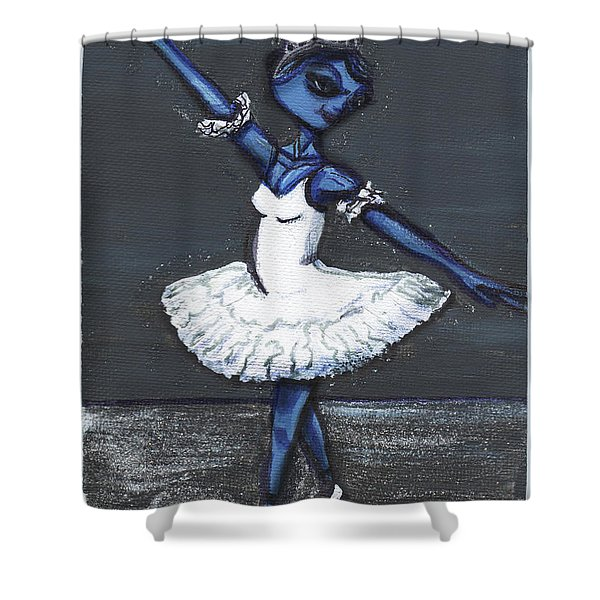 The Blue Swan Shower Curtain