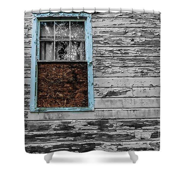 The Blue Window Shower Curtain