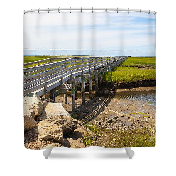 The Boardwalk At Gray's Beach Shower Curtain