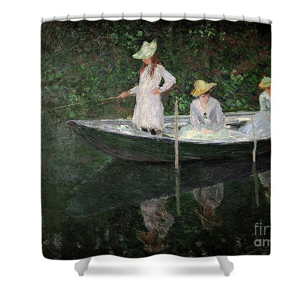 The Boat At Giverny Shower Curtain