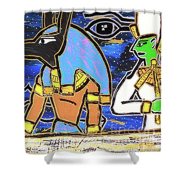 The Boat Of Ausar Passing Through The Underworld Shower Curtain