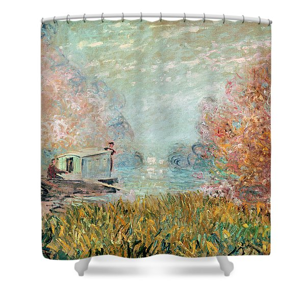 The Boat Studio On The Seine Shower Curtain