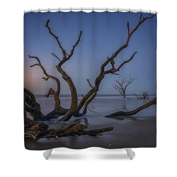 The Boneyard At Botany Bay Shower Curtain