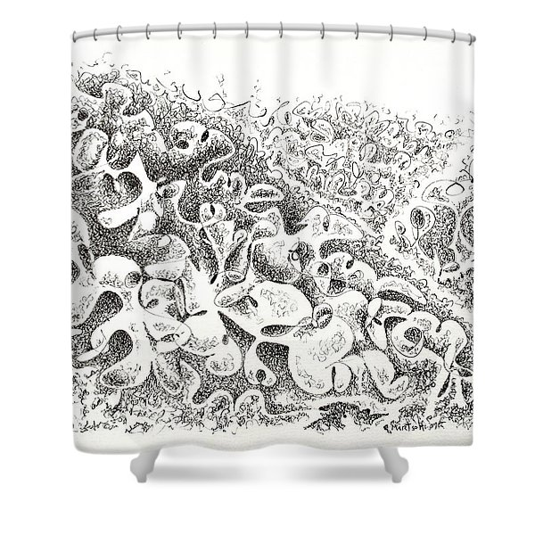 The Boneyard Of Unused Shapes Shower Curtain