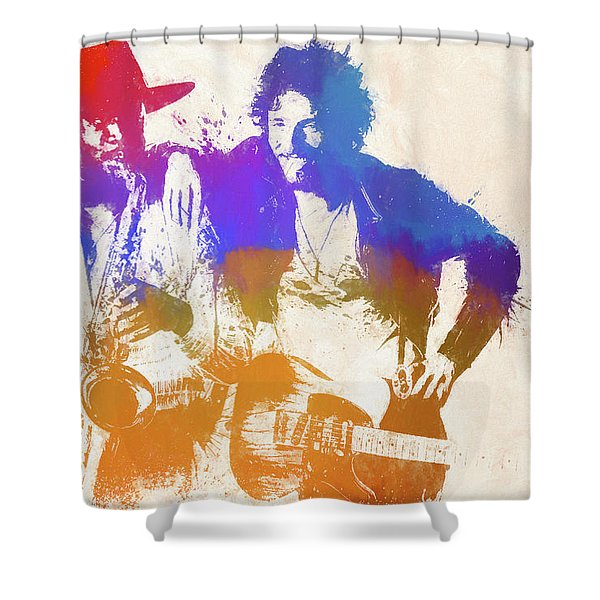 The Boss And The Big Man Shower Curtain