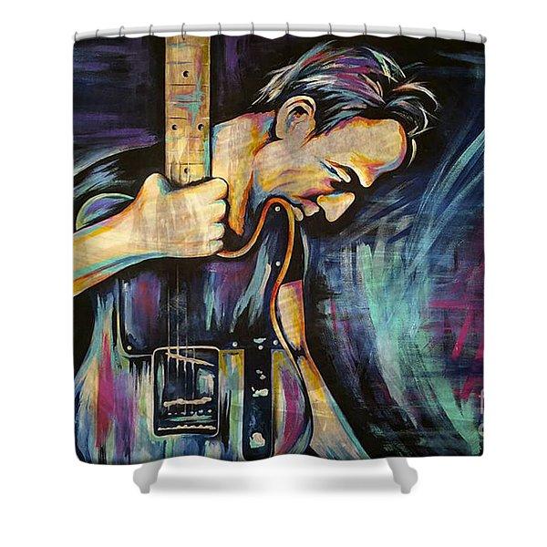 The Boss Bruce Springsteen Shower Curtain