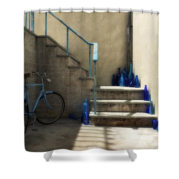 The Bottle Collector Shower Curtain