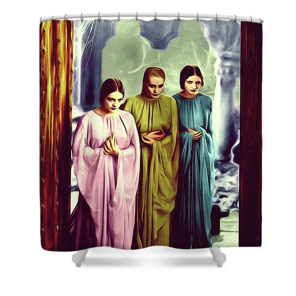 The Brides Of Dracula Shower Curtain