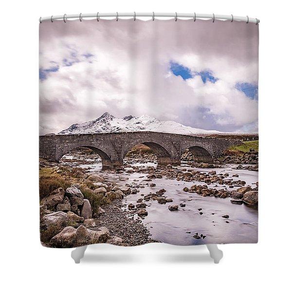 The Bridge At Sligachan On Skye Shower Curtain