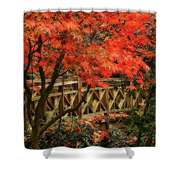 The Bridge In The Park Shower Curtain