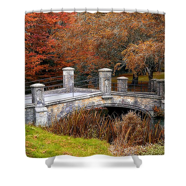 The Bridge To Autumn By Mike Hope Shower Curtain