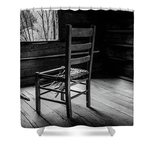 The Broken Chair Shower Curtain