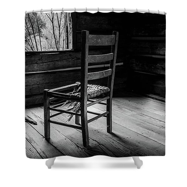 The Broken Chair Shower Curtain