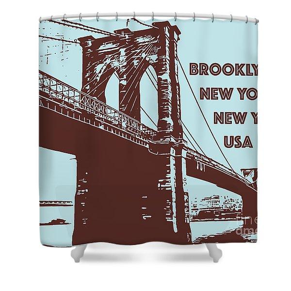 The Brooklyn Bridge, New York, Ny Shower Curtain