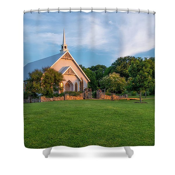 The Brooks At Weatherford Wedding Chapel Shower Curtain