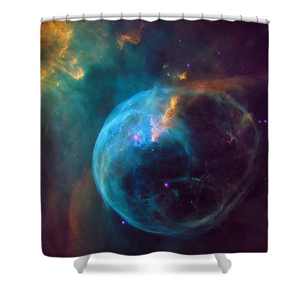 The Bubble Nebula Ngc 7653 Shower Curtain